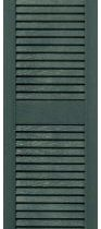 louvered shutters forest green 90ls16-1205 15 25