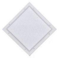 10x10 diamond door window white 404007