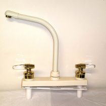 "8"" Ivory Deck Faucet with High Spout"