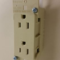 self-contained receptacle ivory 808327