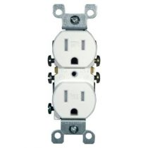 white duplex receptacle - 808286