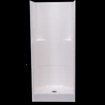 "32""W x 33""D x 74"" H  AcrylX  Slip resistant floor  Molded soap ledges  Center drain  Complies with NAHB, HUD UM-73A & ANSI-Z124.1.2"