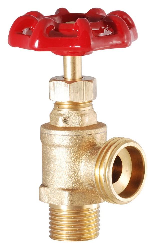 "Brass Boiler Drain 1/2"" mpt x 3/4"" hose"