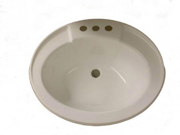 17×20 Bone Lavatory Sink, Plastic 303516