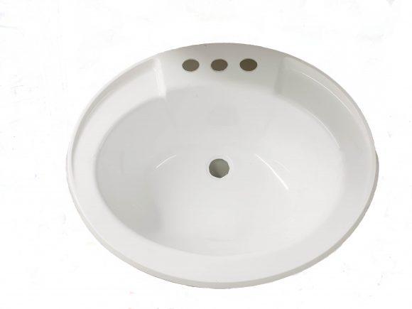 17×20 White Lavatory Sink, Plastic 303515